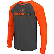 Colosseum Men's Oklahoma State Cowboys Grey Olympus II Long Sleeve Shirt