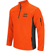 Colosseum Men's Oklahoma State Cowboys Orange Advantage Quarter-Zip Jacket