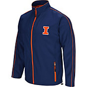 Colosseum Men's Illinois Fighting Illini Blue Barrier Full Zip Wind Jacket