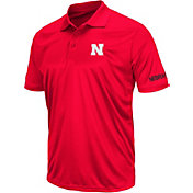 Colosseum Athletics Men's Nebraska Cornhuskers Red Performance Polo