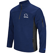 Colosseum Men's Penn State Nittany Lions Blue Advantage Quarter-Zip Jacket
