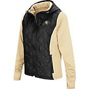 Colosseum Women's Colorado Buffaloes Black/Gold Six Fingers Full-Zip Jacket