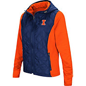 Colosseum Women's Illinois Fighting Illini Blue/Orange Six Fingers Full-Zip Jacket