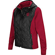 Colosseum Women's Indiana Hoosiers Black/Crimson Six Fingers Full-Zip Jacket
