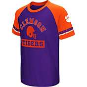 Colosseum Youth Clemson Tigers Orange All Pro Raglan Football T-Shirt