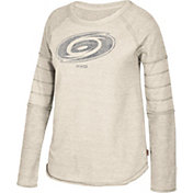 CCM Women's Carolina Hurricanes Grey Raglan Long Sleeve Shirt