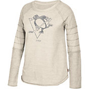 CCM Women's Pittsburgh Penguins Grey Raglan Long Sleeve Shirt