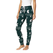 Concepts Sport Women's Michigan State Spartans Green Slide Sleep Pants