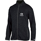 Champion Men's BYU Cougars Grey Playbook Full-Zip Jacket