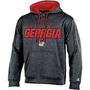 Champion Men's Georgia Bulldogs Grey T-Formation Hoodie