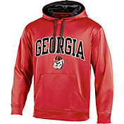Champion Men's Georgia Bulldogs Red T-Formation Hoodie