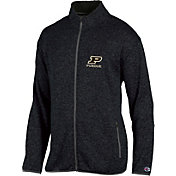 Champion Men's Purdue Boilermakers Grey Playbook Full-Zip Jacket