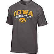 Champion Men's Iowa Hawkeyes Grey Performance Tee