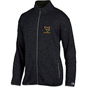 Champion Men's West Virginia Mountaineers Grey Playbook Full-Zip Jacket