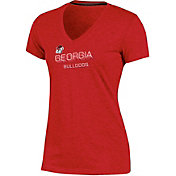 Champion Women's Georgia Bulldogs Red Success V-Neck T-Shirt