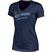 Champion Women's West Virginia Mountaineers Blue Success V-Neck T-Shirt