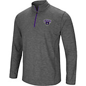 Colosseum Men's Central Arkansas Bears  Grey Action Pass Quarter-Zip Shirt