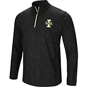 Colosseum Athletics Men's Idaho Vandals Action Pass Quarter-Zip Black Shirt