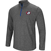 Colosseum Men's DePaul Blue Demons Grey Action Pass Quarter-Zip Shirt