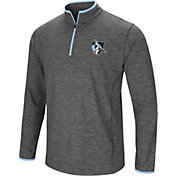 Colosseum Men's Johns Hopkins Blue Jays Grey Action Pass Quarter-Zip Shirt