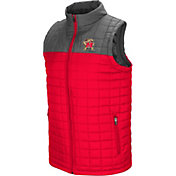 Colosseum Men's Maryland Terrapins Red/Grey Amplitude Puff Vest