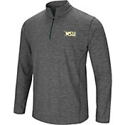 Colosseum Men's Wright State Raiders Grey Action Pass Quarter-Zip Shirt