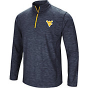 Colosseum Men's West Virginia Mountaineers Blue Action Pass Quarter-Zip Shirt