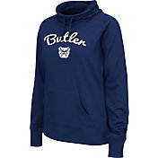 Colosseum Women's Butler Bulldogs Blue Funnel Neck Fleece Pullover