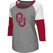 Colosseum Women's Oklahoma Sooners Grey Raglan T-Shirt