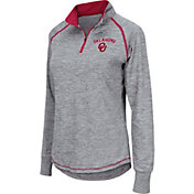 Colosseum Women's Oklahoma Sooners Grey Bikram Quarter-Zip Top