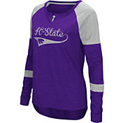Colosseum Women's Kansas State Wildcats Purple Routine Raglan Long Sleeve T-Shirt