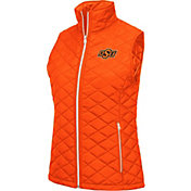 Colosseum Women's Oklahoma State Cowboys Orange Elite Quilted Full-Zip Vest
