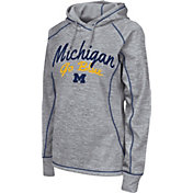 Colosseum Women's Michigan Wolverines Grey Crossneck Pullover Hoodie