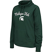 Colosseum Women's Michigan State Spartans Green Funnel Neck Fleece Pullover