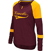 Colosseum Women's Minnesota Golden Gophers Maroon Routine Raglan Long Sleeve T-Shirt