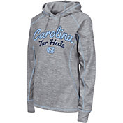 Colosseum Women's North Carolina Tar Heels Grey Crossneck Pullover Hoodie