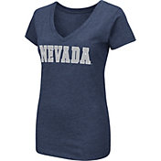 Colosseum Women's Nevada Wolf Pack Navy Dual Blend V-Neck T-Shirt