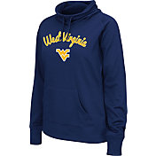 Colosseum Women's West Virginia Mountaineers Blue Funnel Neck Fleece Pullover