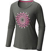Columbia Women's Tested Tough In Pink Medallion Long Sleeve Shirt