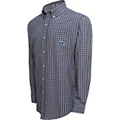 Campus Specialties Men's Old Dominion Monarchs Blue Multi-Checkered Woven Long Sleeve Shirt