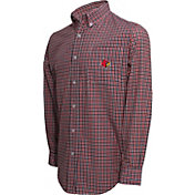 Campus Specialties Men's Louisville Cardinals Cardinal Red Multi-Checkered Woven Long Sleeve Shirt