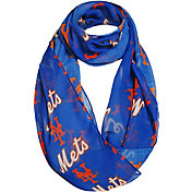 Forever Collectibles New York Mets Logo Infinity Scarf