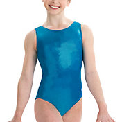 GK Elite Youth Square Back Mystique Gymnastics Tank Leotard