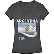 Fifth Sun Women's FIFA 2018 World Cup Russia Argentina Trophy Logo Charcoal T-Shirt