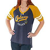 G-III For Her Women's LA Galaxy Fastball Navy T-Shirt