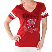 G-III For Her Women's Wisconsin Badgers Red First Pick V-Neck T-Shirt