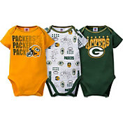 Gerber Infant Green Bay Packers 3-Piece Onesie Set