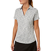 Lady Hagen Women's Essentials Space Dye Golf Polo - Extended Sizes