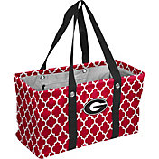Georgia Bulldogs Quatrefoil Picnic Caddy