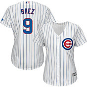 Majestic Women's Replica Chicago Cubs Javier Baez #9 Cool Base Home White Jersey